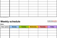 Blank Monthly Work Schedule Template Unique Free Weekly Schedule Templates for Excel Employee
