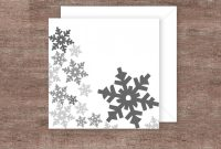 Blank Snowflake Template New Grey Snowflake Christmas Card Print It Yourself Holiday