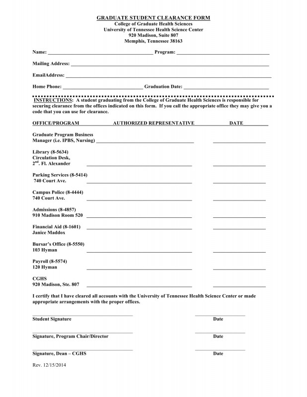 Blank Sponsorship Form Template Unique Free 15 Student Clearance Forms In Pdf Ms Word