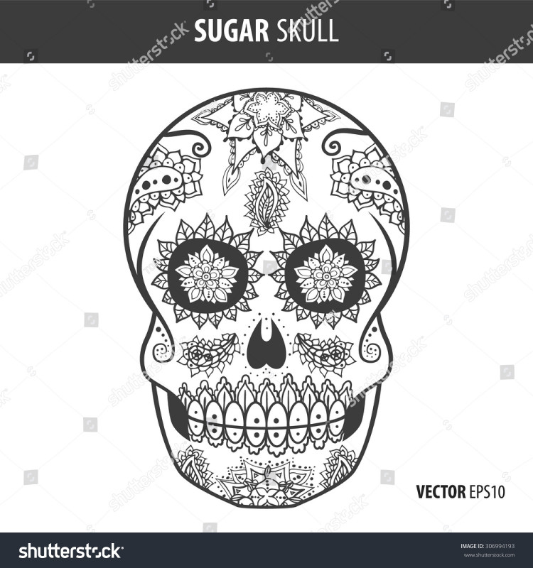 Blank Sugar Skull Template New Day Of The Dead Skull Mask Template Klauuuudia