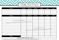Blank Suitcase Template New Monthly Income Expenses Cashflow Editable Budget Printable