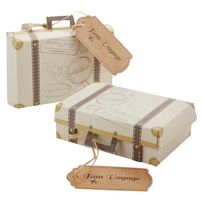 Blank Suitcase Template Unique 24ct Bon Voyage Vintage Suitcase Favor Box Vintage