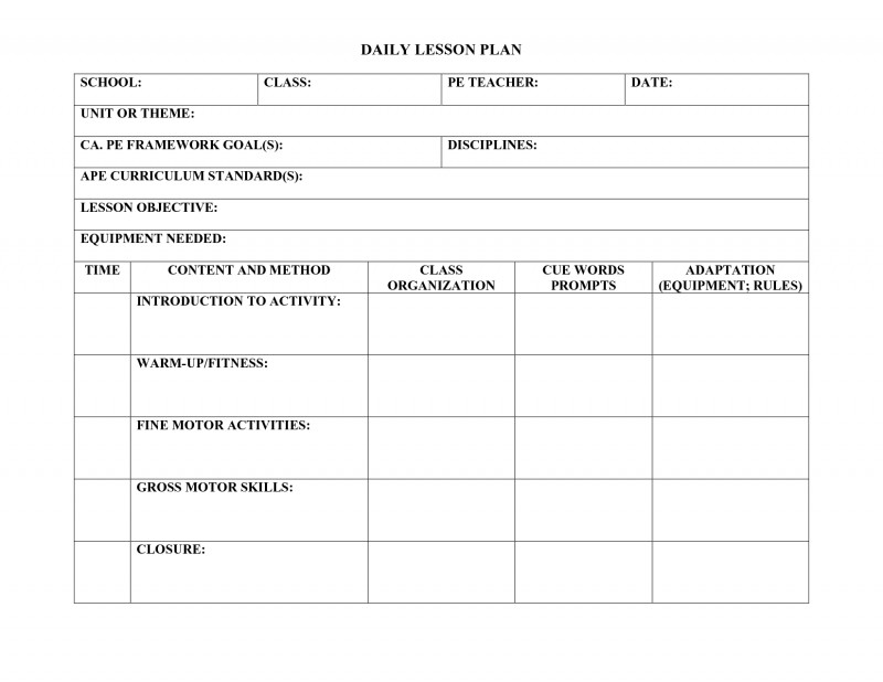 Blank Syllabus Template New Worksheets For Physical Education Printable Worksheets And