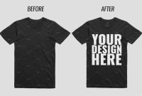 Blank T Shirt order form Template Awesome 39 Awesome Black T Shirt Mockups for Your Apparel Business