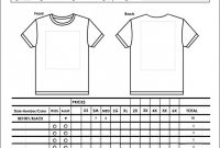 Blank Tee Shirt Template Awesome Sample T Shirt order form Template Microsoft Word with