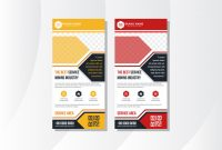 Blank Templates for Flyers Unique Hexagon Vertical Banner Mining Red