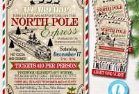 Blank Train Ticket Template Unique north Pole Polar Express Train event with Santa Flyer