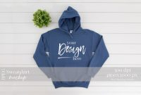 Blank Tshirt Template Printable New Gildan 18500 Mockup Sweatshirt Mockup Indigo Blue