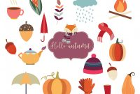 Blank Umbrella Template New Herbst Elemente Auflistung Download Kostenlos Vector