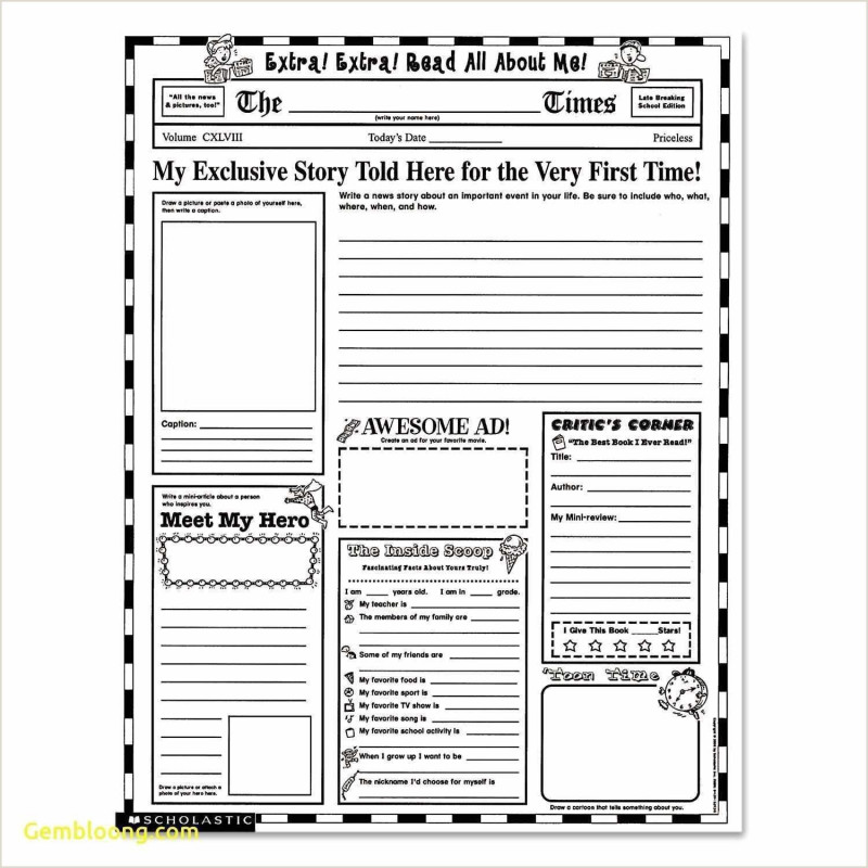 Blank Word Wall Template Free Awesome Libre Resume Template Newspaper Template Label Templates
