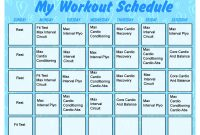 Blank Workout Schedule Template New Printable Workout Calendar Activity Shelter