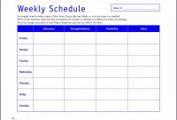 Blank Workout Schedule Template Unique Beautiful Weekly Workout Schedule Template In 2020 with