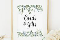 Bridal Shower Label Templates New Eucalyptus Cards and Gifts Sign Printable Greenery Bridal