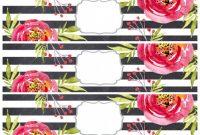 Bridal Shower Label Templates Unique Www Papertraildesign Com Wp Content Uploads 2017 02 Stripe