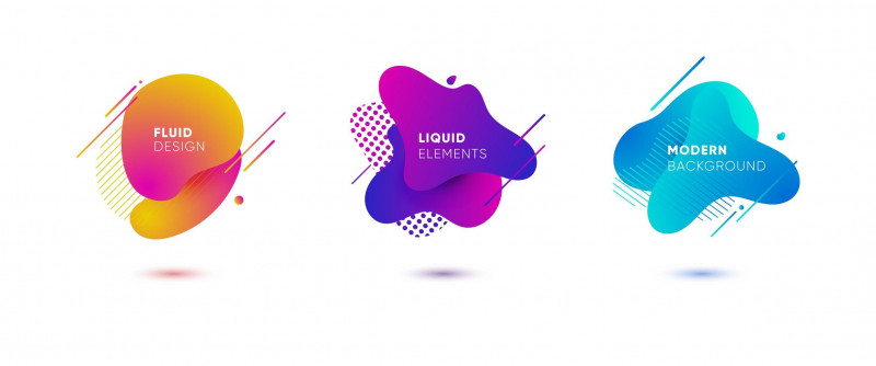 Bubble Bottle Label Template New Dynamical Colored Graphic Elements Gradient Abstract