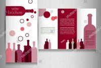 Bubble Bottle Label Template New Wine Card Restaurant Brochure Design Flyer Stock Vector