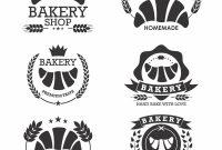 Candy Bar Label Template New Ba¤ckerei Logo Emblem Mit Croissants Download Kostenlos