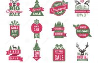 Christmas Address Labels Template New Christmas Sale Tags Badges Holidays Best Offers Labels with
