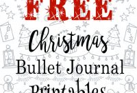 Christmas Address Labels Template Unique Free Christmas Bullet Journal Printables with Images