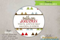 Christmas Return Address Labels Template Awesome Custom Mod Triangle Circle Return Address Labels Baby Shower Stickers S134