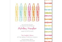 Crayon Labels Template New Crayon Scribble Birthday Invitations Kids Birthday