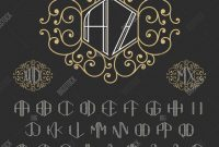 Decorative Label Templates Free Awesome Two Letters Vector Photo Free Trial Bigstock