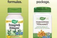 Dietary Supplement Label Template New Natures Way Fenugreek Bockshornklee 610mg 180 Veg Kapseln
