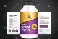 Dietary Supplement Label Template Unique Bottle Label Package Template Design Label Design Mock Up
