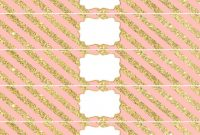 Diy Water Bottle Label Template New Pink and Gold Water Bottle Wrappers Free Printable Pink