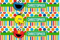 Diy Water Bottle Label Template New Sesame Street Water Bottle Label Printable Elmo Cookie Monster Big Bird Birthday Party Baby Shower Party Customized Personalized