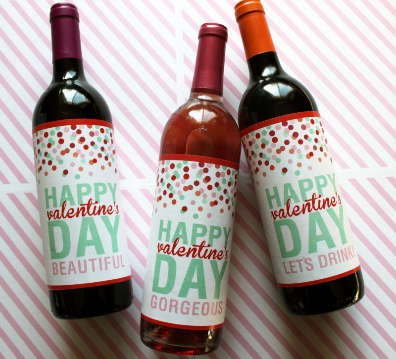 Diy Wine Label Template New Printable Valentines Day Wine Labels Valentines Day Wine