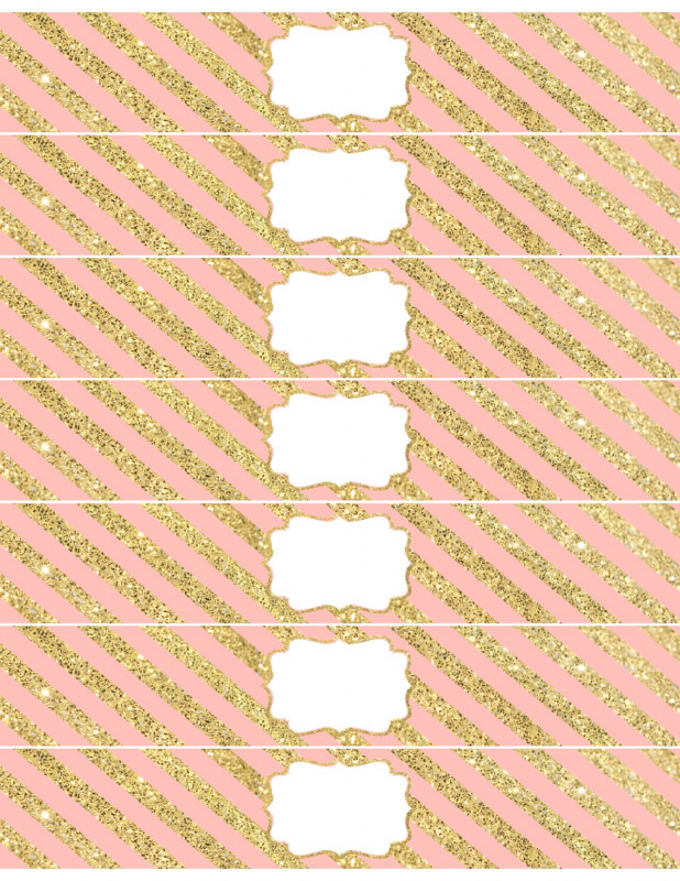 Drink Bottle Label Template Awesome Pink And Gold Water Bottle Wrappers Free Printable Pink