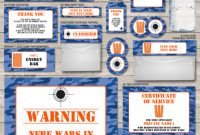 Food Label Template for Party Awesome Pin On Paint Ball Color Fight Nerf Laser Tag theme Party