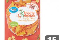 Food Label Template for Party New Great Value Nacho Cheese tortilla Chips Party Size 15 Oz