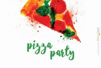 Food Label Template for Party Unique Pizza Party Invite Template In 2020 Pizza Party