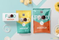 Food Product Labels Template Unique Awesome Food Packaging Mockup Free Psd Zippypixels