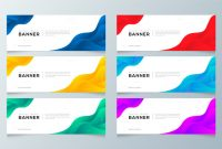 Free Blank Banner Templates Awesome Modern Gradient Abstract Banner Template Set Download Free