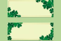 Free Blank Banner Templates Awesome St Patricks Day Blank Banners Set Vector Free Image by