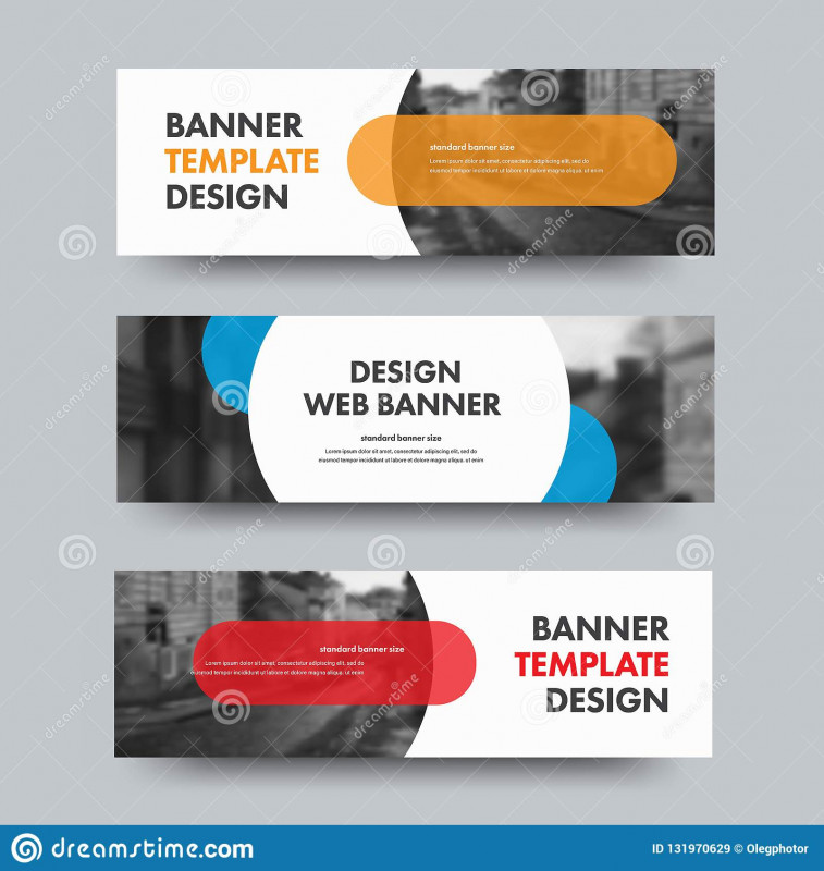 Free Blank Banner Templates Awesome Template Of Horizontal Web Banners with Round and