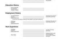Free Blank Cv Template Download New Can Employer Know Your Employment History Canadian Cv