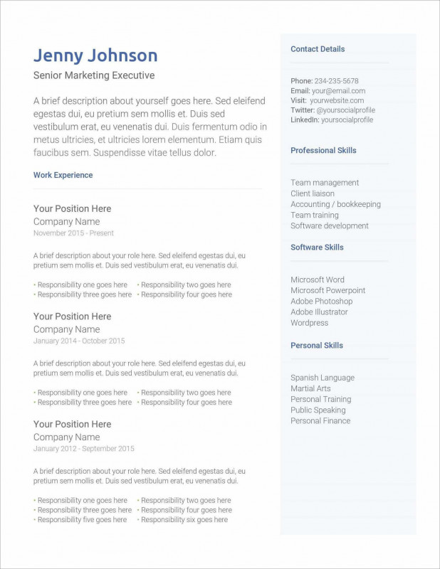 Free Blank Resume Templates For Microsoft Word Awesome 17 Free Resume Templates Download Now