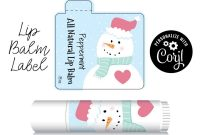 Free Chapstick Label Template Awesome Lip Balm Label Snowman Edit Online with Corjl Personalized