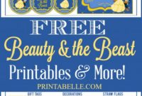 Free Hershey Kisses Labels Template Unique Beauty the Beast Party Printables Beauty Beast Birthday