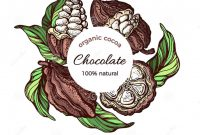 Free Label Border Templates Awesome Cacao Color Label Vector Illustration In Circle Stock