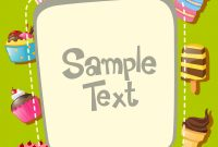 Free Label Border Templates Awesome Frame Template with Different Types Of Desserts Download