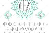 Free Label Border Templates New Zwei Buchstaben Monogramm Vorlage Im Rahmenstil Stock