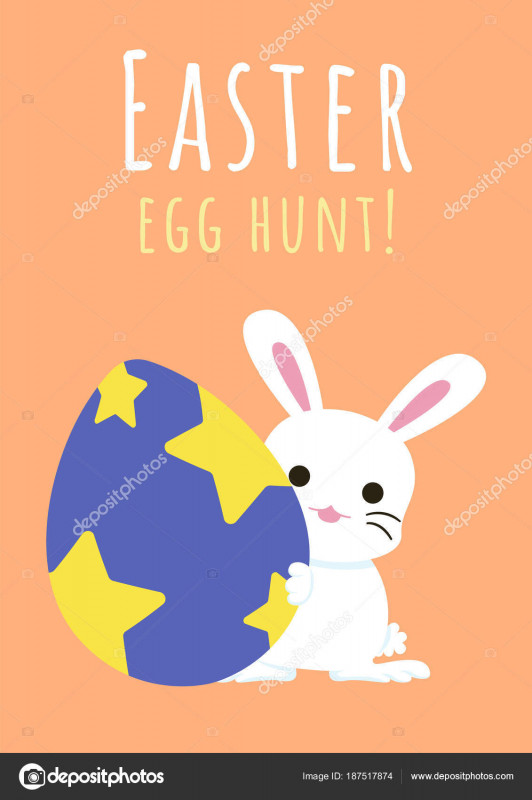 Free Printable Blank Greeting Card Templates New Happy Easter Greeting Card Bunny Easter Egg Easter Egg Hunt