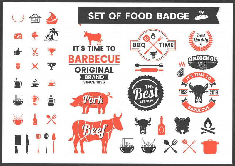 Free Printable Vintage Label Templates Awesome Restaurant Vintage Food Badges Download Free Vectors