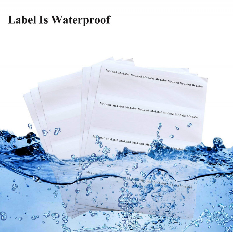 Free Water Bottle Label Template Word Unique Mr Label Self Laminating Wrap Around Cable Labels Us Letter Sheets Letter Sheet Laser Printer Only For Wire Marking Identification