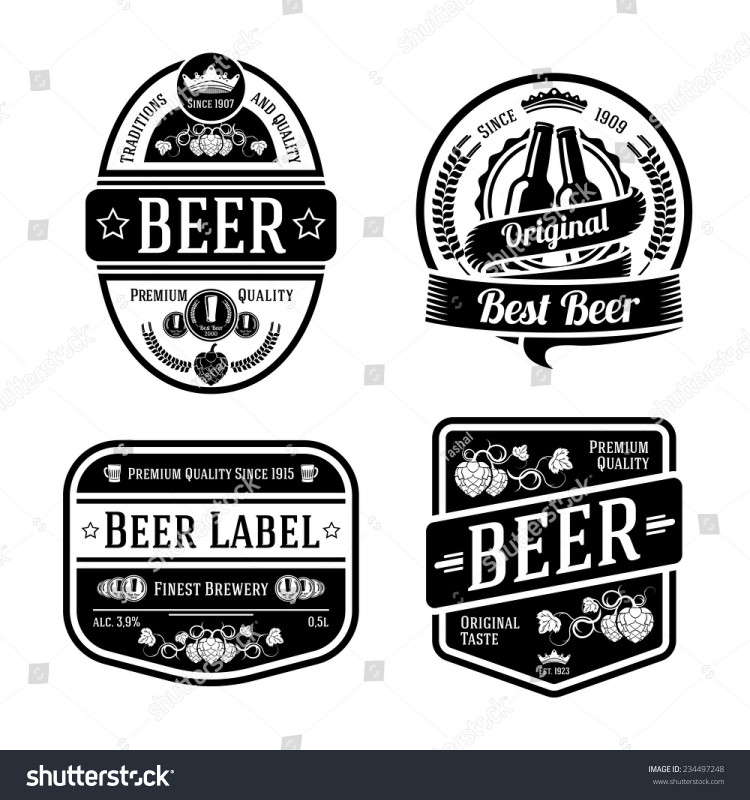 Free Water Bottle Labels For Baby Shower Template Awesome 100 Free Beer Label Templates Free Vector Vintage